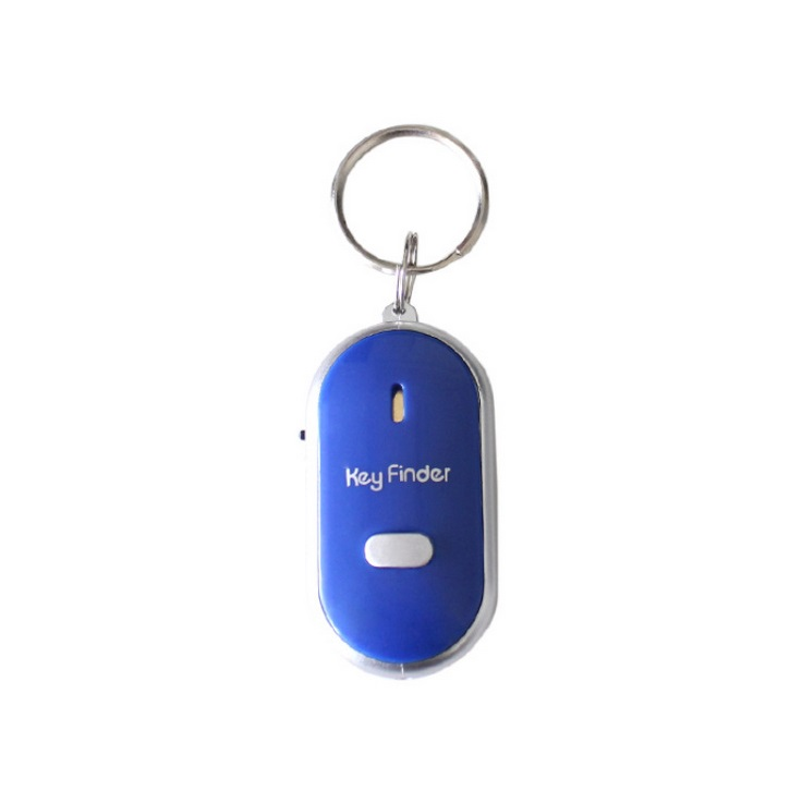 Mini Whistle Anti Lost Key Finder Wireless Smart Flashing Beeping Remote Lost Keyfinder Locator with LED Torch blue