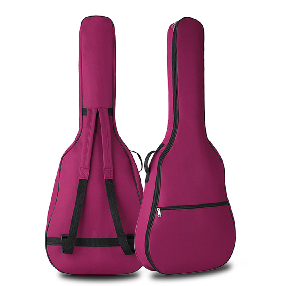 Portable Double Straps Acoustic Guitar Soft Carry Case Gig Bag  rose Red