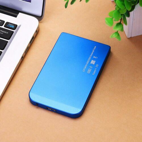 2.5in USB 3.0/2.0 SATA SSD HDD Hard Drive Disk Dock Enclosure Case Station Box blue