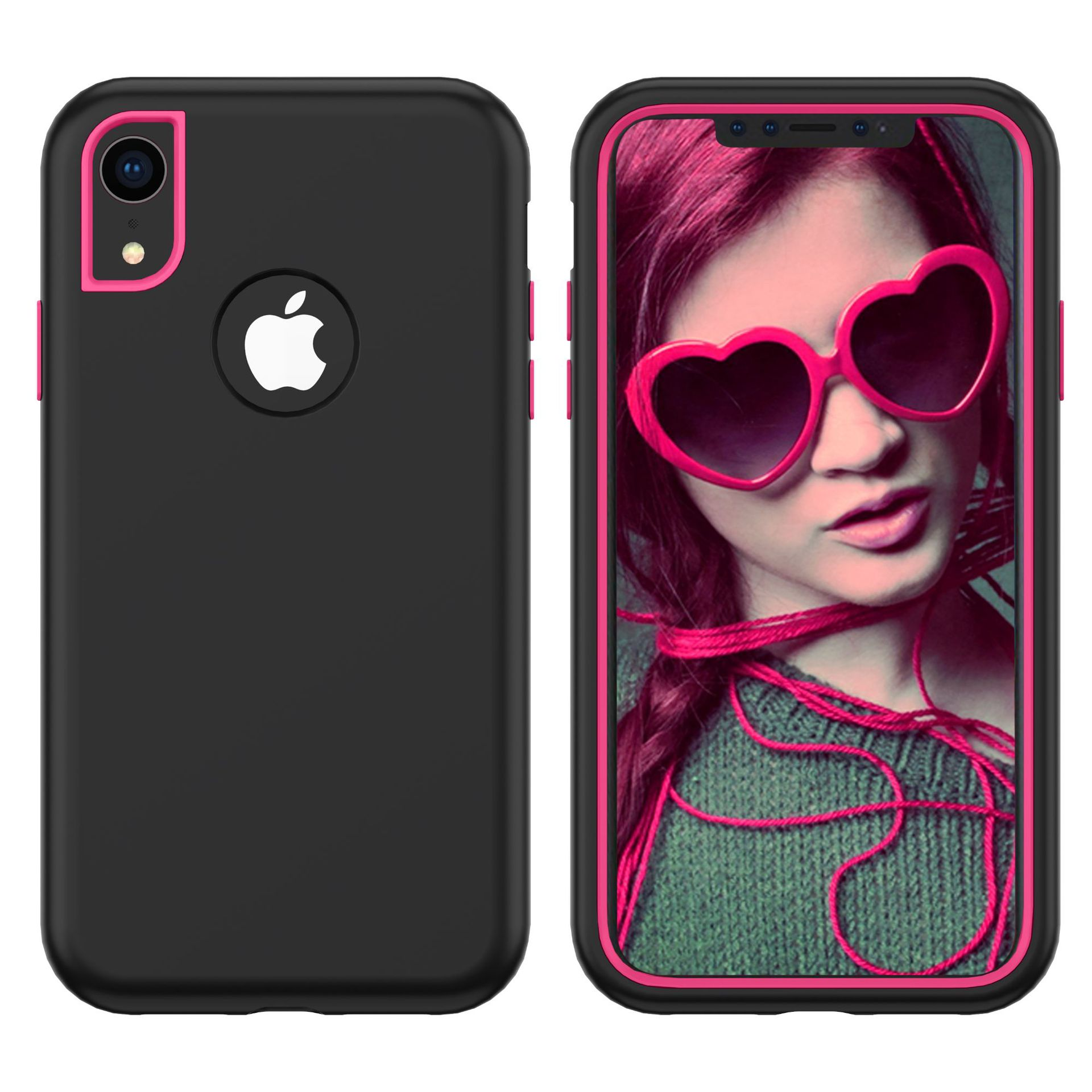 For iPhoneX/XS, XR, XS Max 3 in 1 Heavy Duty Hybrid Rugged Protective Case