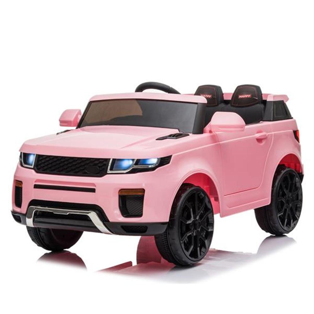 [US Direct] Kids 12v Electric  Car Dual Drive Remote Control 3 Speeds Led Lights Car Toy Pink
