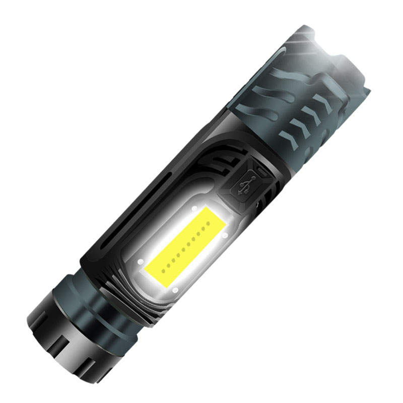 LED Multifunction Powerful Flashlight Rechargeable Torch Bike Lamp gray_W750