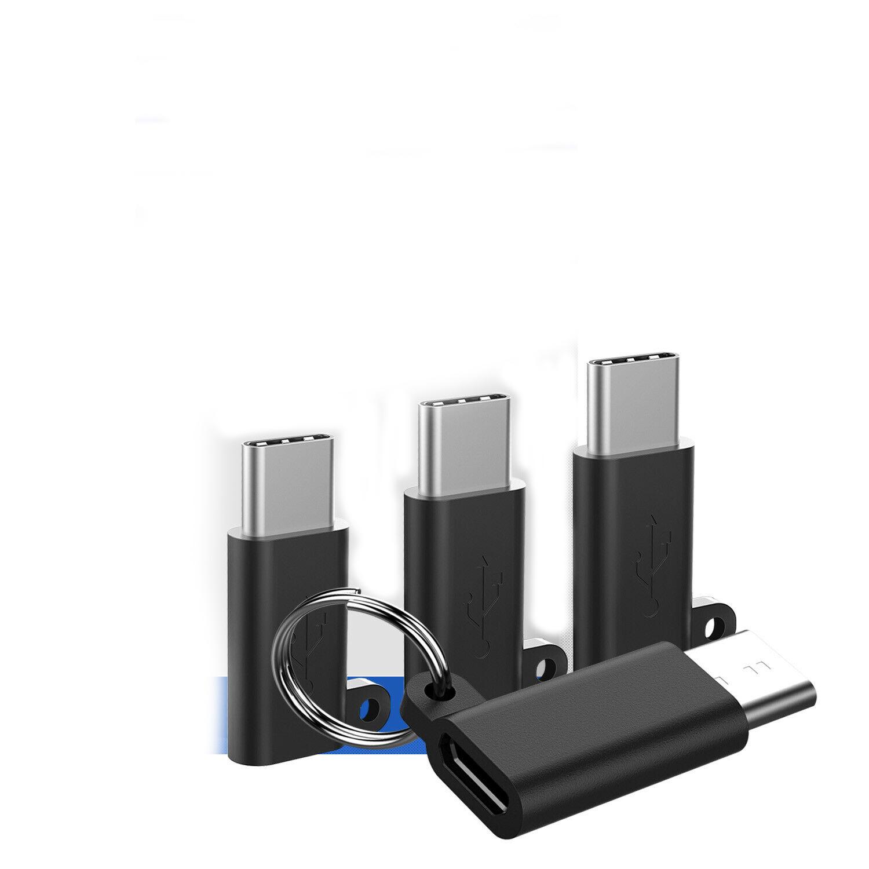 4 Pcs USB C Male to Micro USB Female Converter Connector USB 3.1 Type C Adapter black