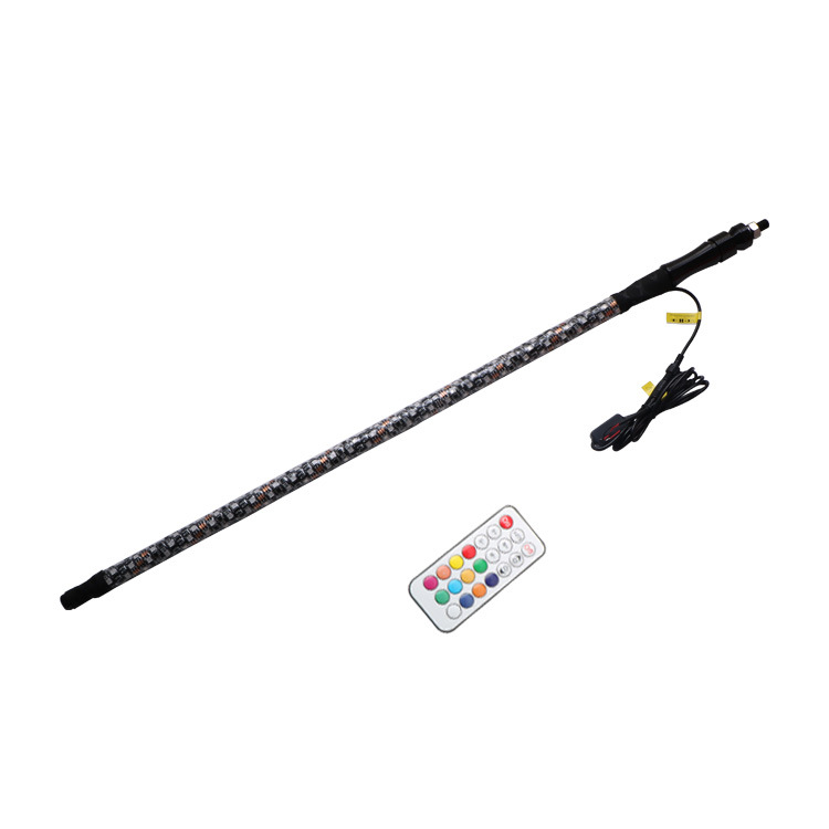 3FT DC12V  RGB Waterproof Bendable Wireless Remote Control Super Bright LED Flagpole Lamp Light color