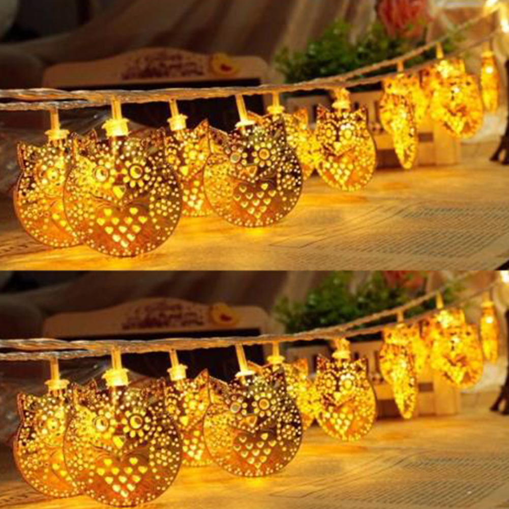 LEDs Fairy Lovely Owl Battery Operated String Lights LED Decoration for Christmas Garland On the Window Warm White