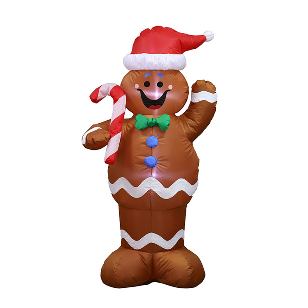 1.5m Inflatable Gingerbread Man Prop for Christmas Party Yard Decor U.S. regulations