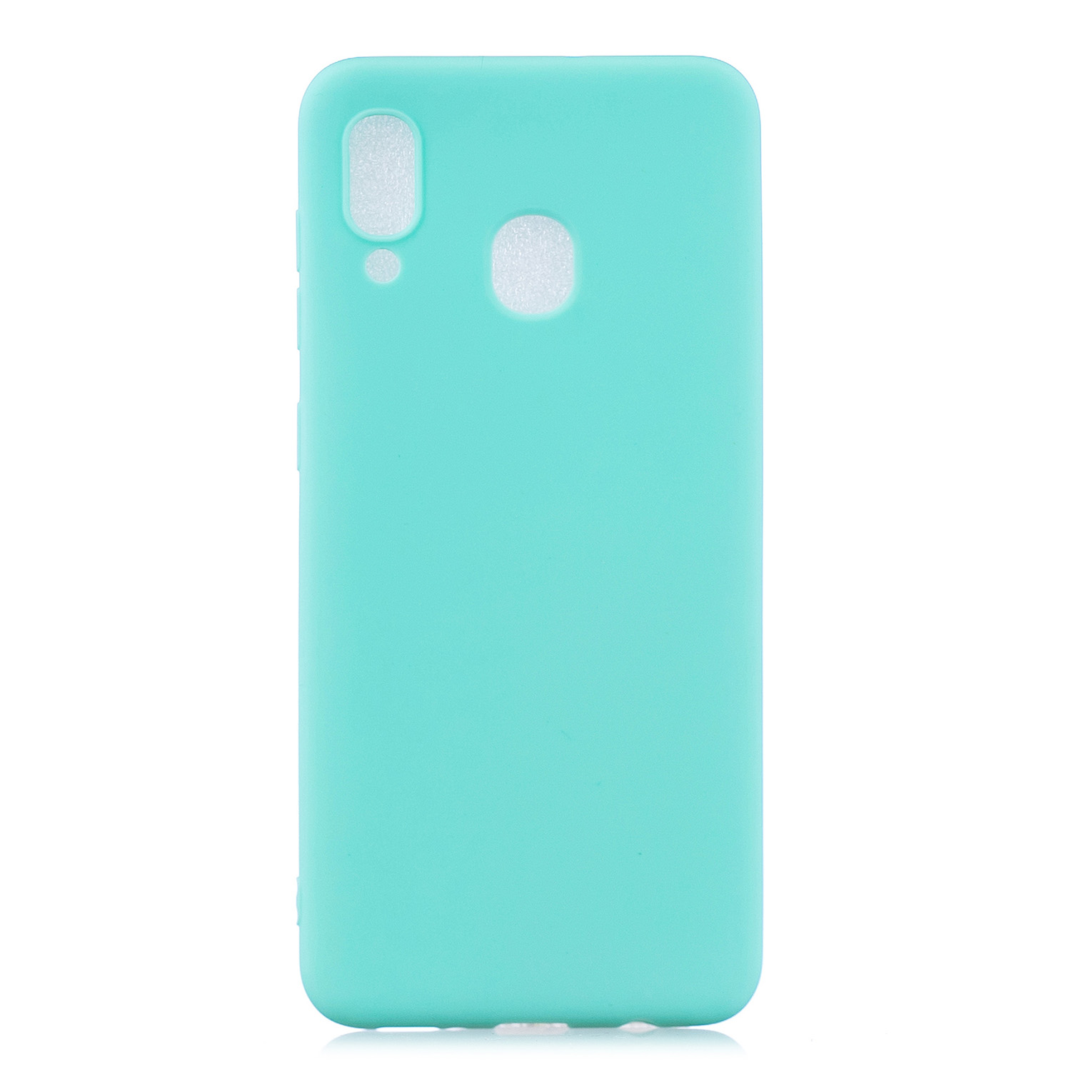 For Samsung A30 Lovely Candy Color Matte TPU Anti-scratch Non-slip Protective Cover Back Case Light blue