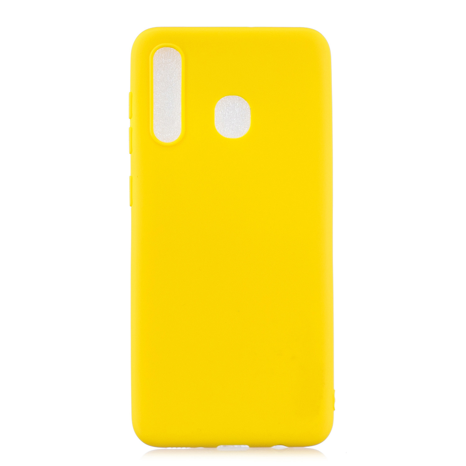 For Samsung A30 Lovely Candy Color Matte TPU Anti-scratch Non-slip Protective Cover Back Case yellow
