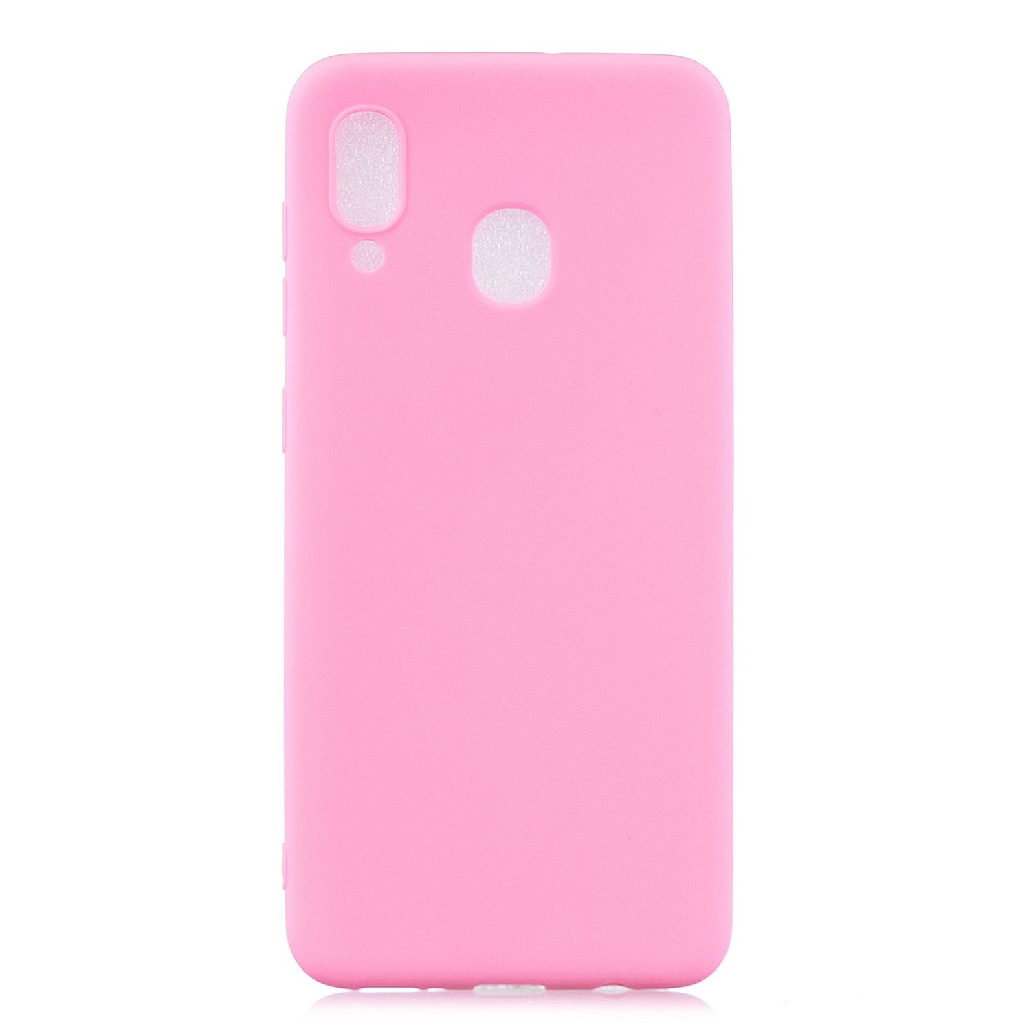 For Samsung A30 Lovely Candy Color Matte TPU Anti-scratch Non-slip Protective Cover Back Case dark pink