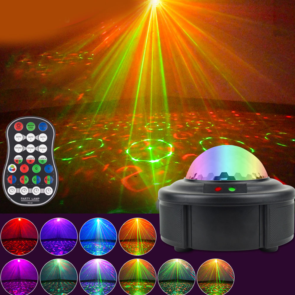 90 In one Voice-Activated Starry Projection USB Water Flame Light Lamp  British regulatory