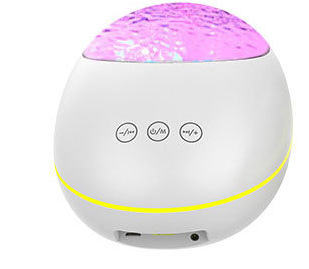 Multi Functional Bluetooth Ocean Starry Projection Remote Control Night Light Lamp white