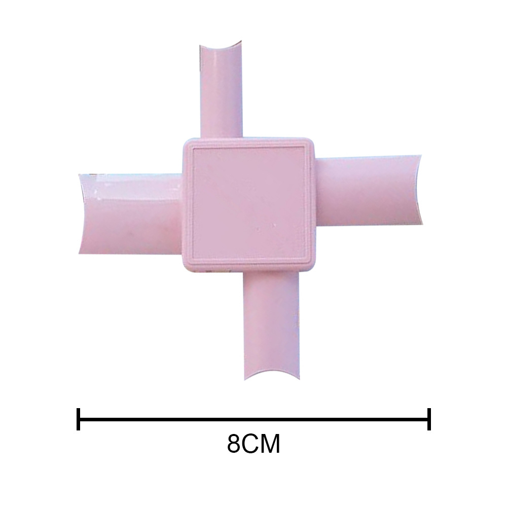 Nail  Applicator Multiple Sized Flexible For Various Fingers Makeup Easy Nail Applicator Tools Pink