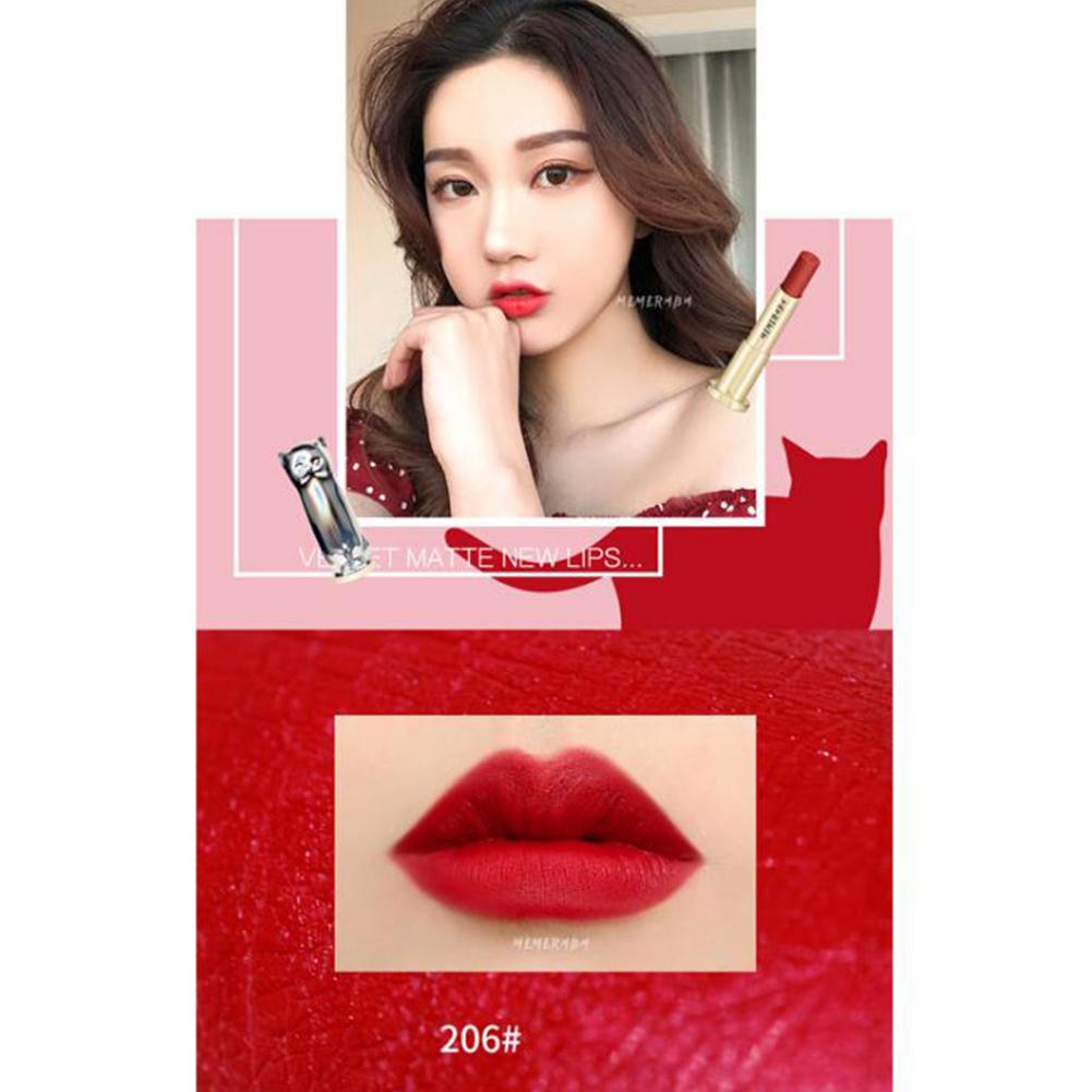 Cute Cat Shaped Matte Lipstick Long Lasting Lipsticks Velvet Waterproof Lipstick  normal_6#