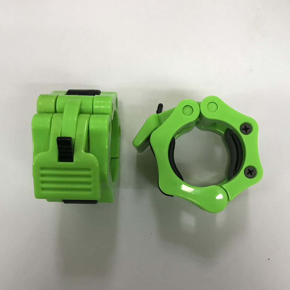 25mm Weightlifting Barbell Dumbbell Quick Buckle Card Head Barbell Collar Lock Gym Accessories light green