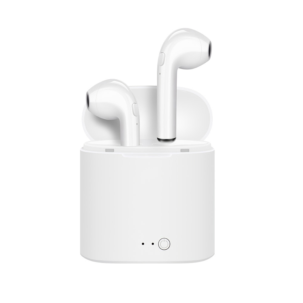 i7s Tws Wireless Bluetooth Earphones Mini Stereo Bass Earphone Earbuds Sport Headset with Charging Base White