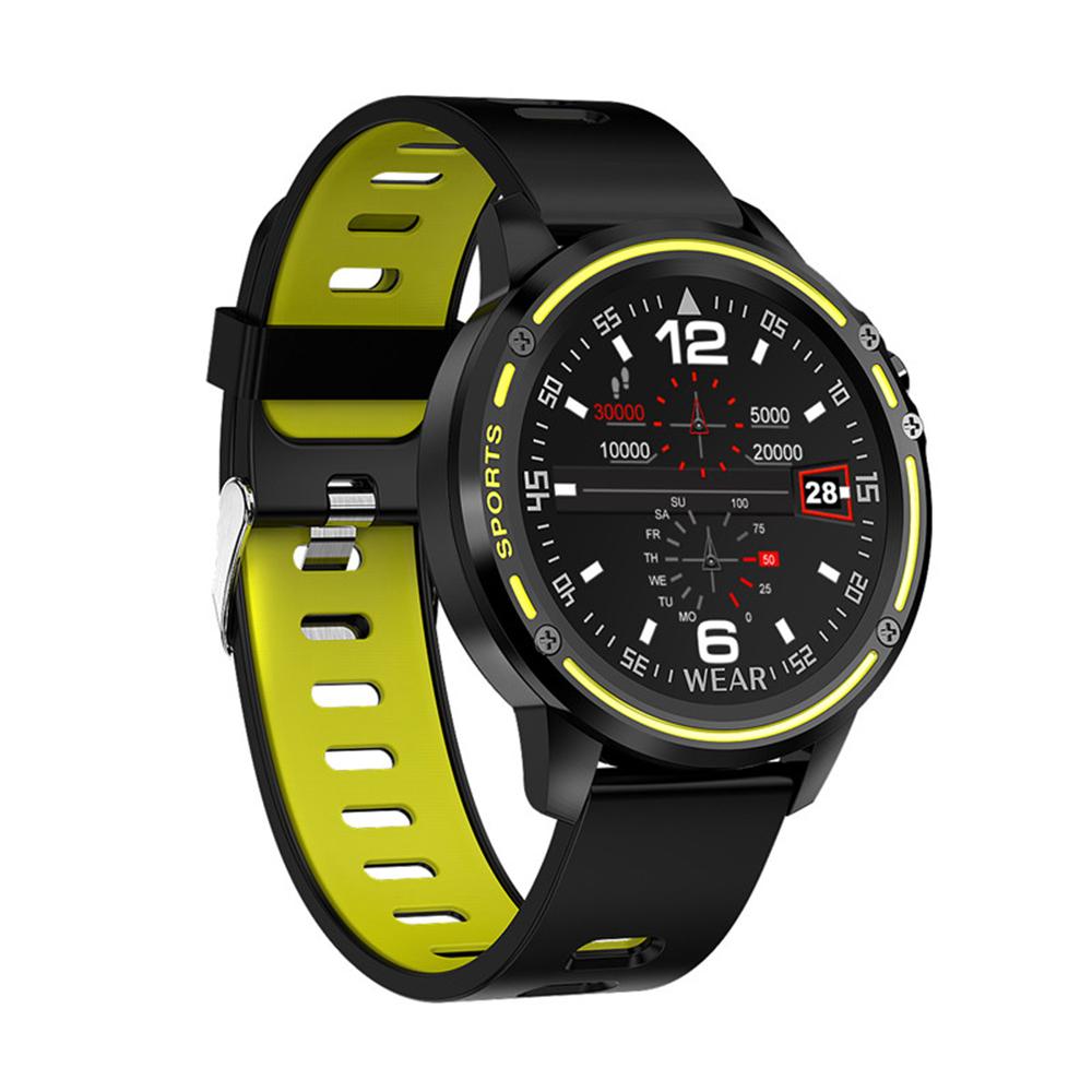 L8 Men Smart Watch IP68 Waterproof Reloj Hombre Mode SmartWatch With ECG PPG Blood Pressure Heart Rate Green