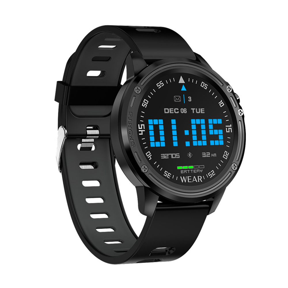 L8 Men Smart Watch IP68 Waterproof Reloj Hombre Mode SmartWatch With ECG PPG Blood Pressure Heart Rate Black