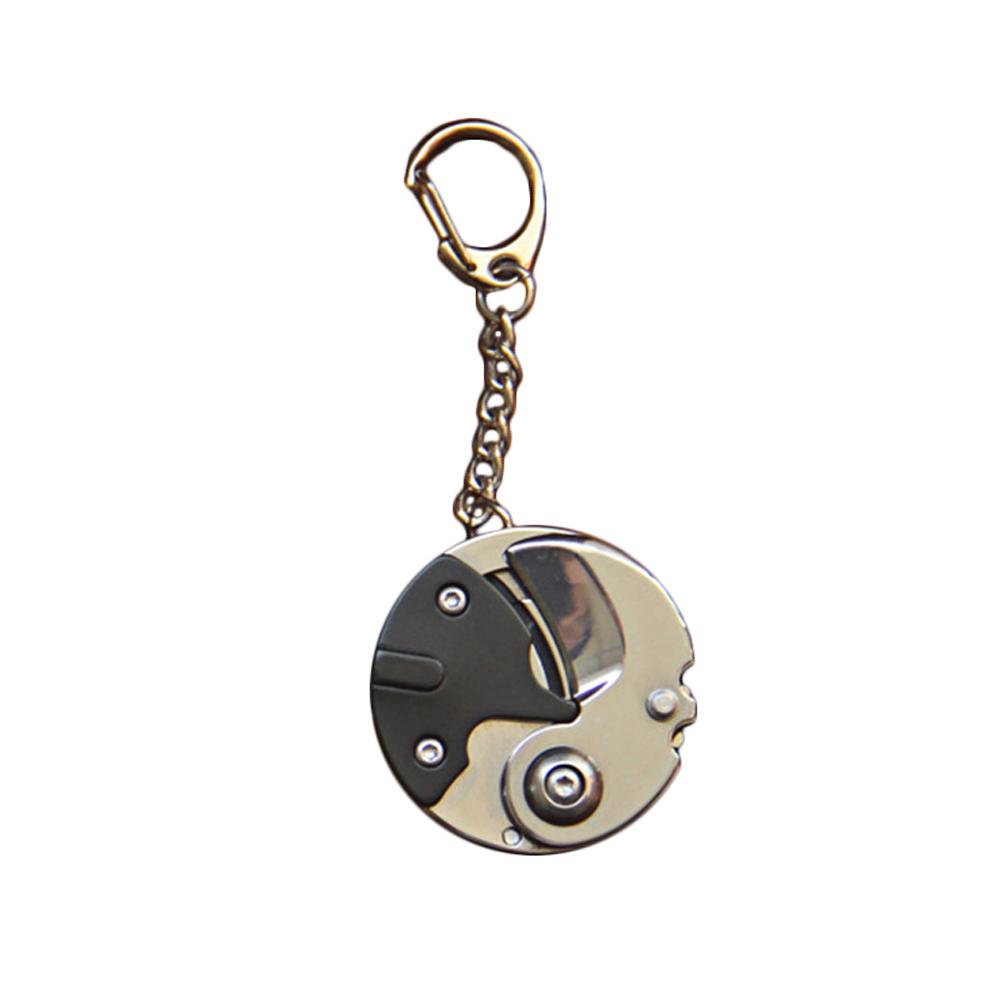Creative Portable Coin Screwdriver EDC Multifunctional Gadget Outdoor Folding Cutter Black titanium