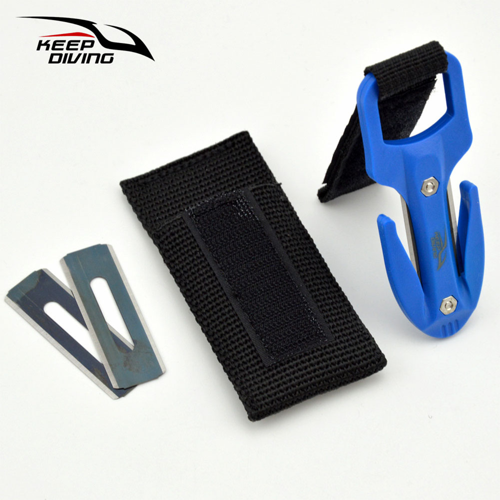 Portable Diving Cutting Cutter Diving Snorkeling Safety Secant Cutting Cutter Hand Line Cutter Diving Equipment blue_One size