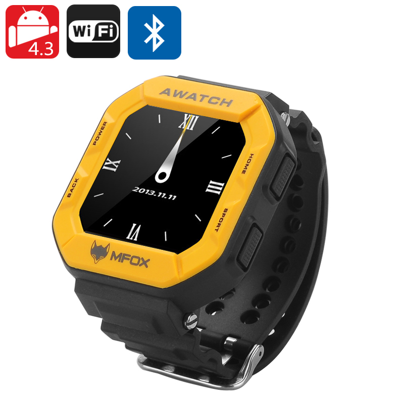 MFOX AWATCH IP68 Smart Watch (Yellow)