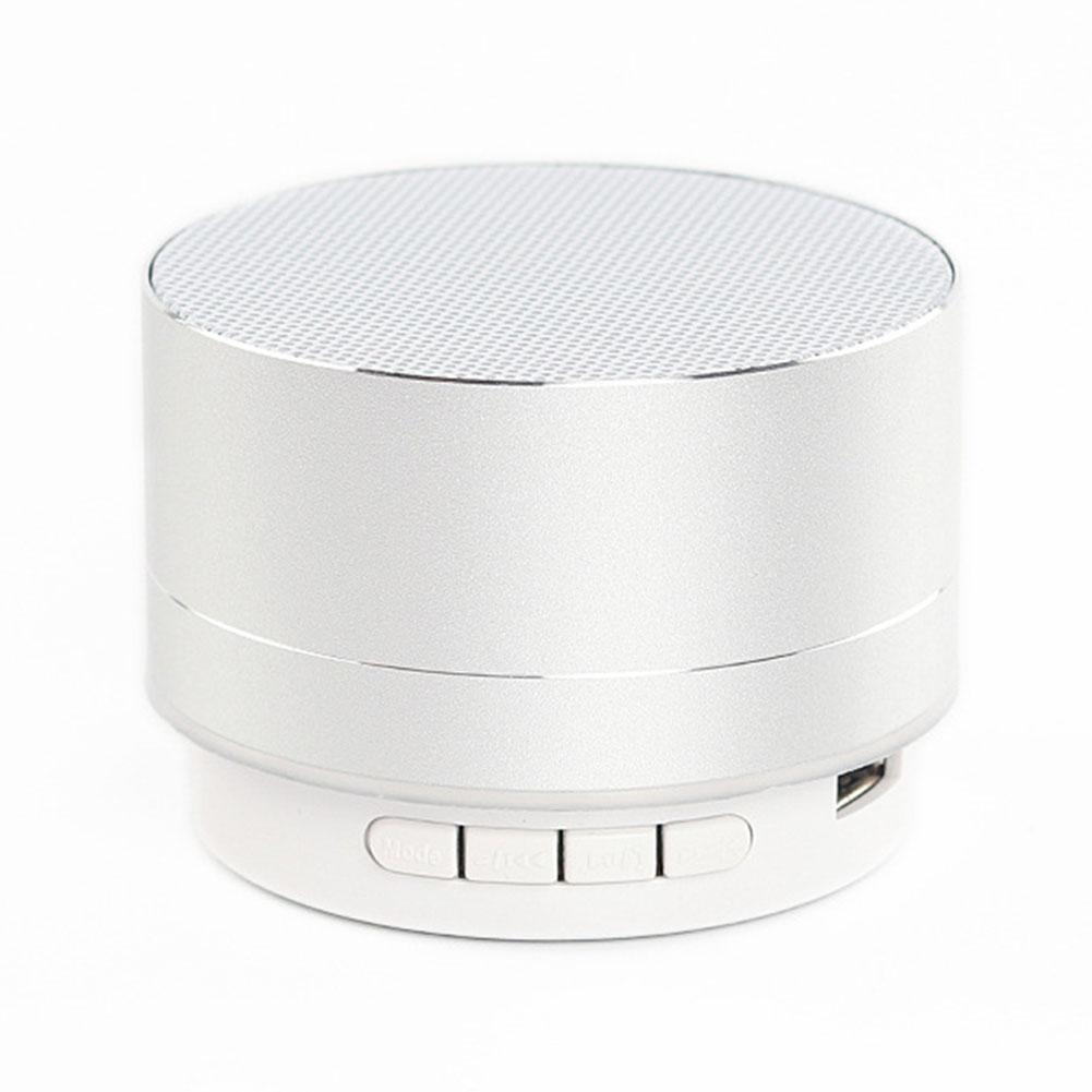 Wireless Bluetooth Speaker Metal Mini Portable Sound with Mic TF card FM radio AUX MP3 Music Play Loudspeaker Silver gray