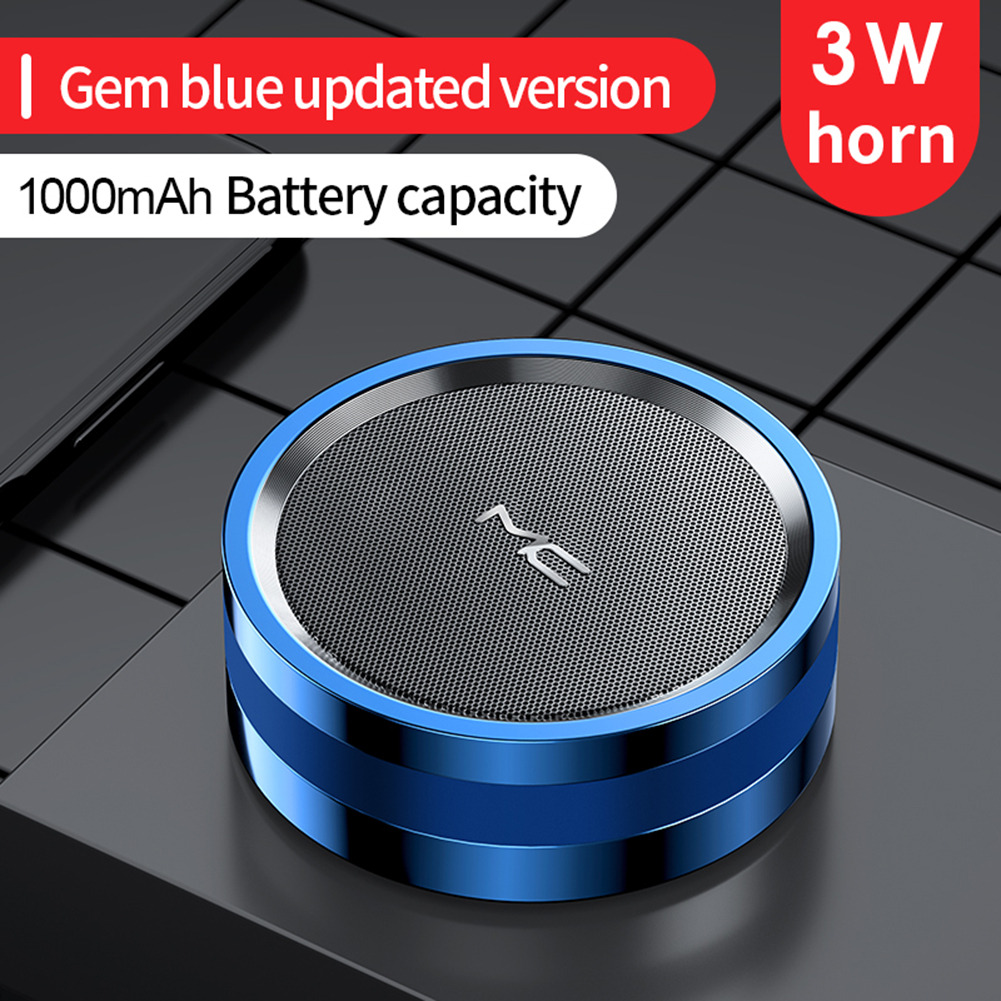 Mc Maicong A7 Bluetooth 5.0 Wireless Speaker Portable Bass Stereo Multi-function Outdoor Sport Mp3 Player Blue upgrade version