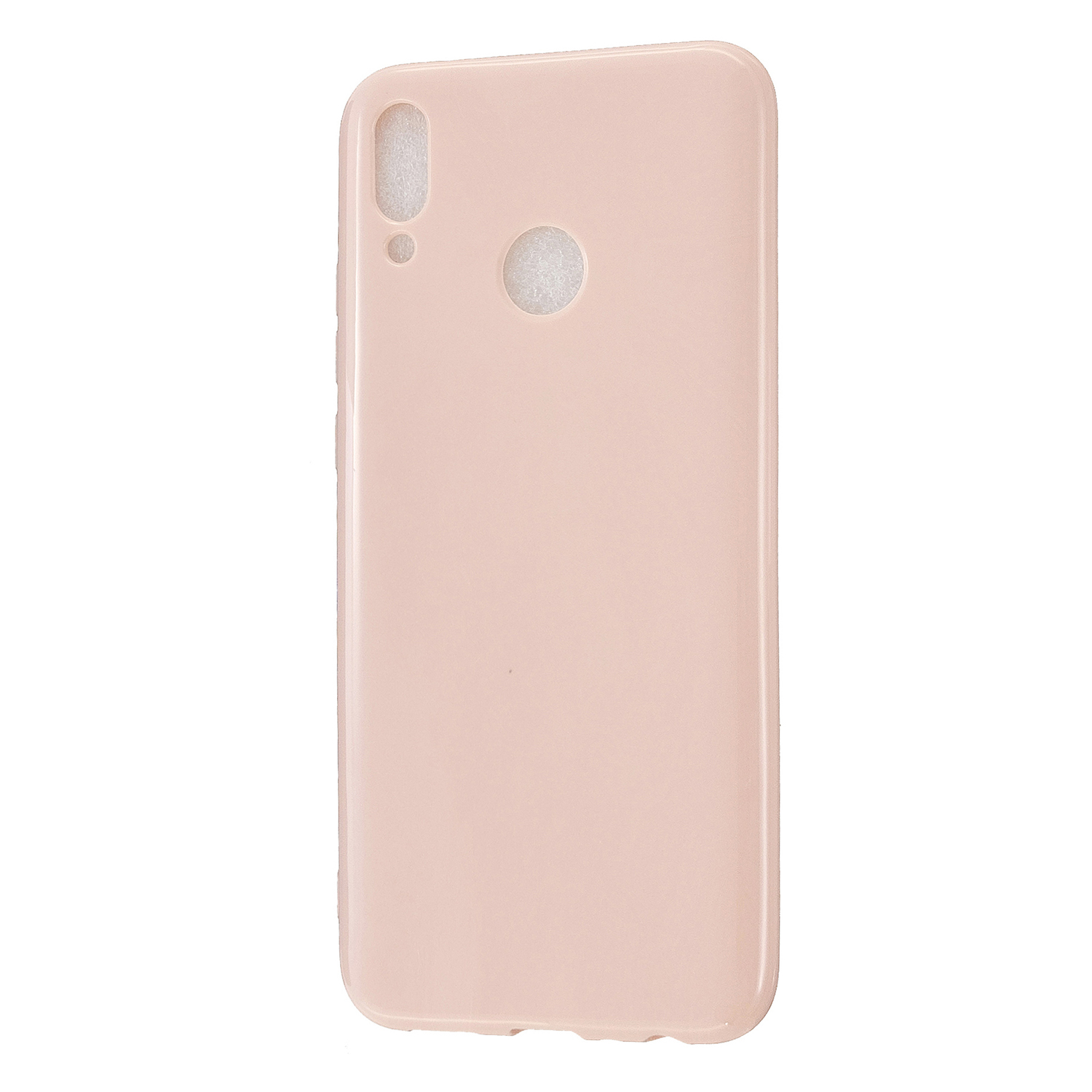 For HUAWEI Y9/Y9 Prime 2019 Cellphone Shell Glossy TPU Case Soft Mobile Phone Cover Full Body Protection Sakura pink