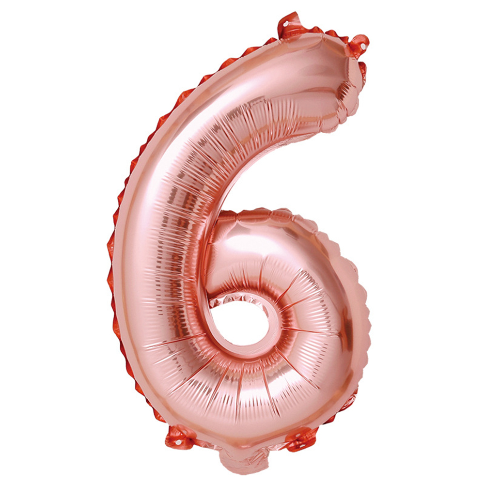 32-inch Rose Gold Digital  Aluminum  Film  Balloons 0-9 Number Party Venue Decoration Props Balloon 6