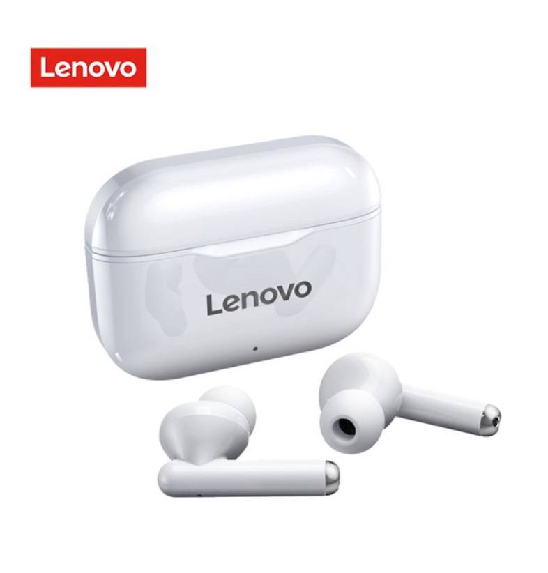 Original LENOVO Wireless  Earphones Bluetooth 5.0 Tws Earbuds LP1 9d Stereo Sound Noise Reduction Ipx4 Headsets With Mic white