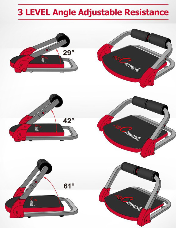 [US Direct] Original BalanceFrom Ab Mat Trainer Abdominal Machine Exercise Crunch Roller Workout Exerciser Black