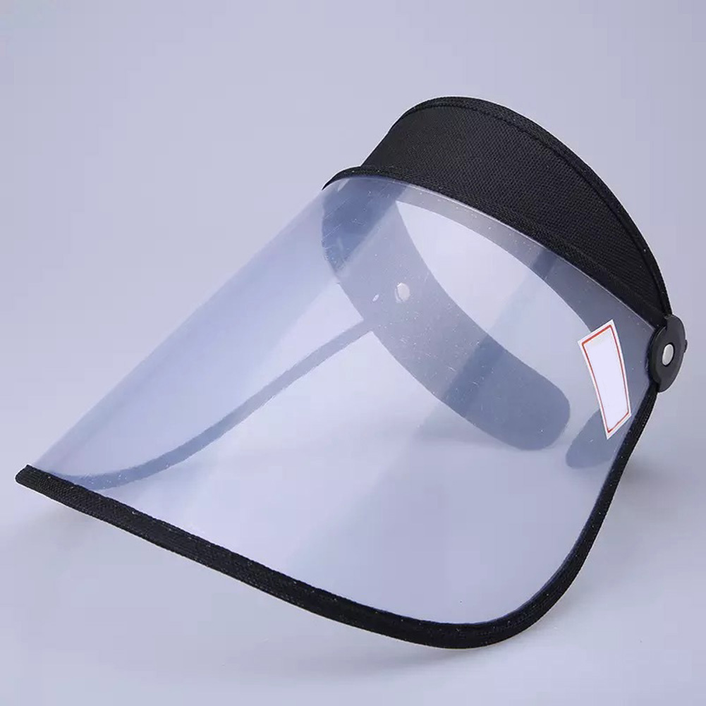 Safety Face Shield 360 Degree Rotated Dust proof Outdoor Riding Visor Cooking Mask black