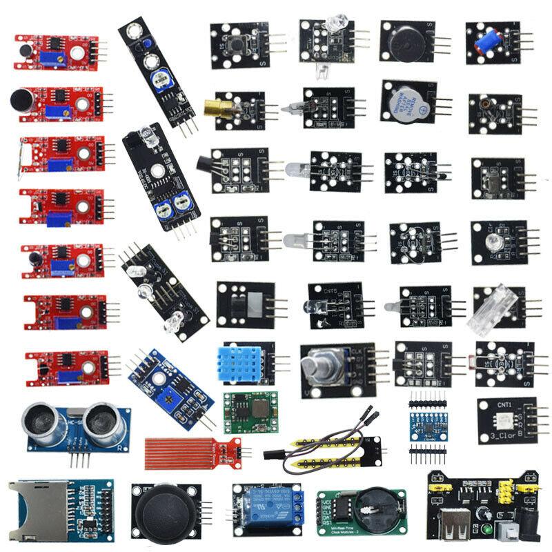 For Arduino 45 in 1 Sensors Modules Starter Kit Better Than 37in1 Sensor Kit 37 in 1 Sensor Kit UNO R3 MEGA2560 Boxed