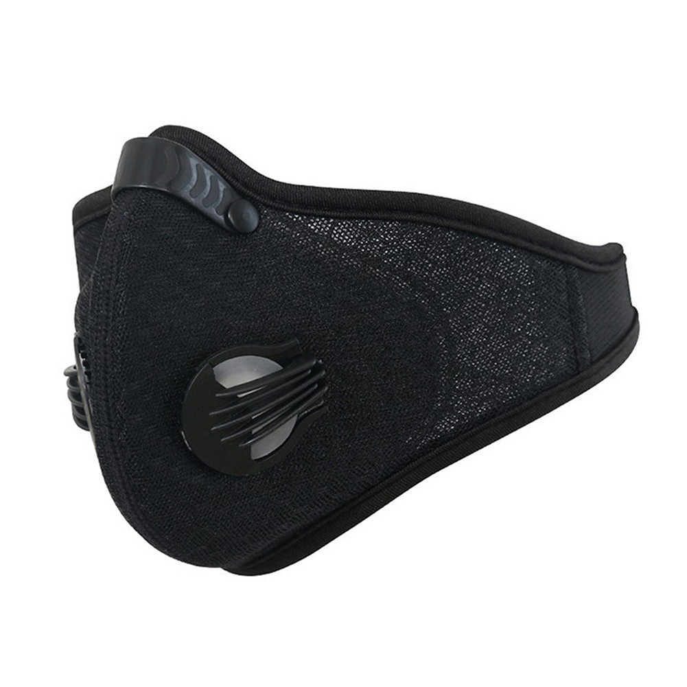 Breathable Mesh Bicycle Mask Dust Smog Windproof Protective Nylon Mesh Bike MTB Cycling Half Face Mask black_One size