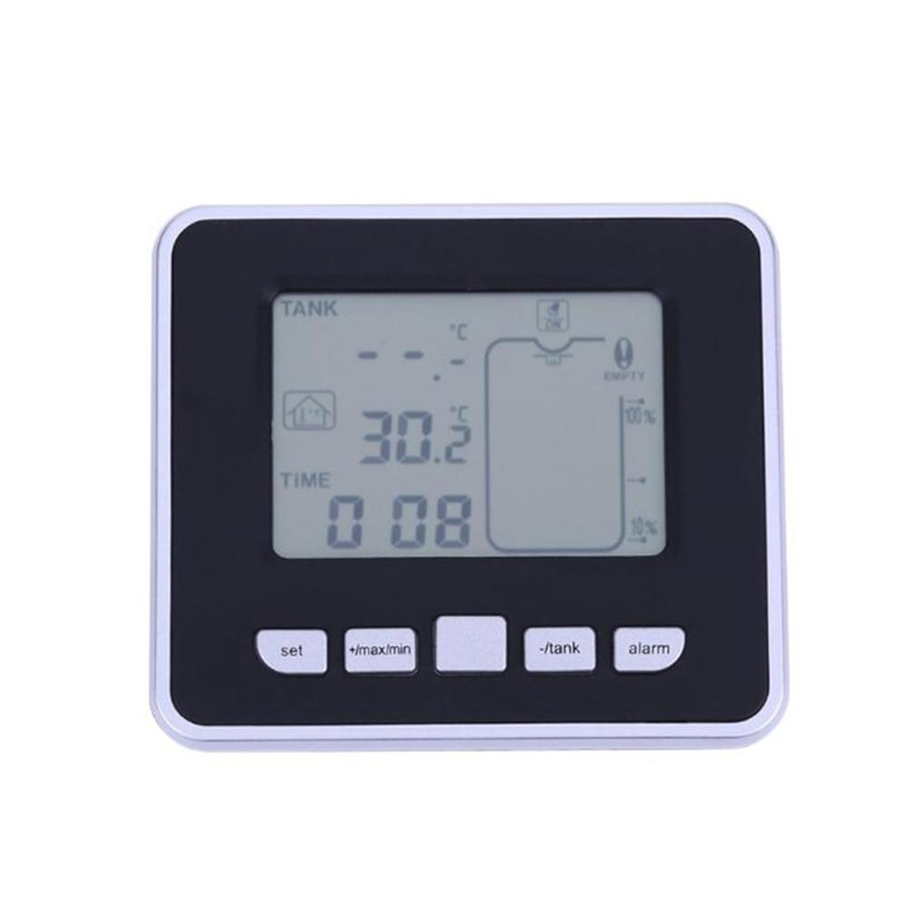 Wireless Ultrasonic Tank Liquid Depth Level Meter with Temperature Sensor Water Level Gauge Digital Level Measuring Meter TS-FT002