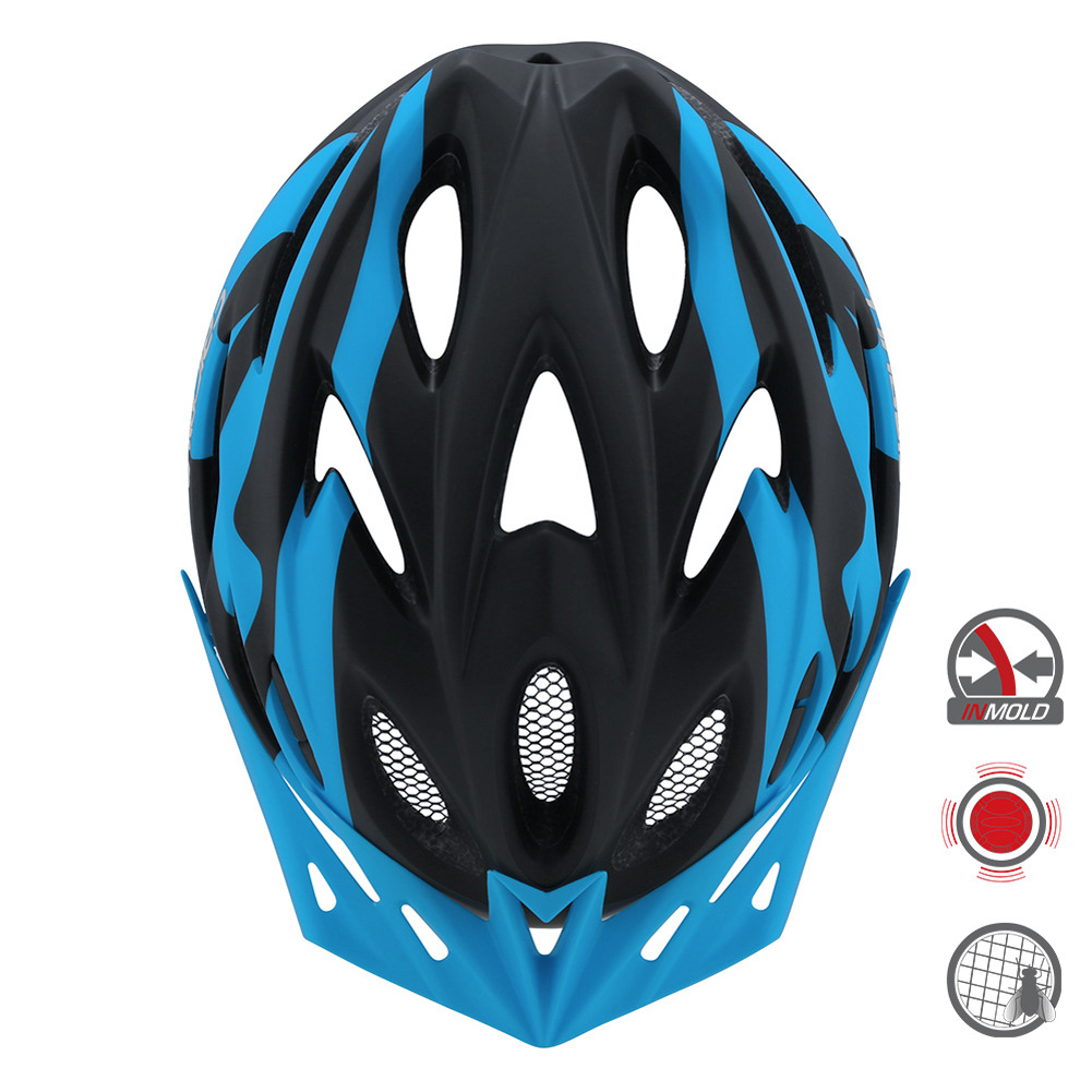 Cairbull FUNGO Helmet All-in-one Off-road Cycling Mountain Bike Motorcycle Riding Helmet Black blue_S / M (54-58CM)
