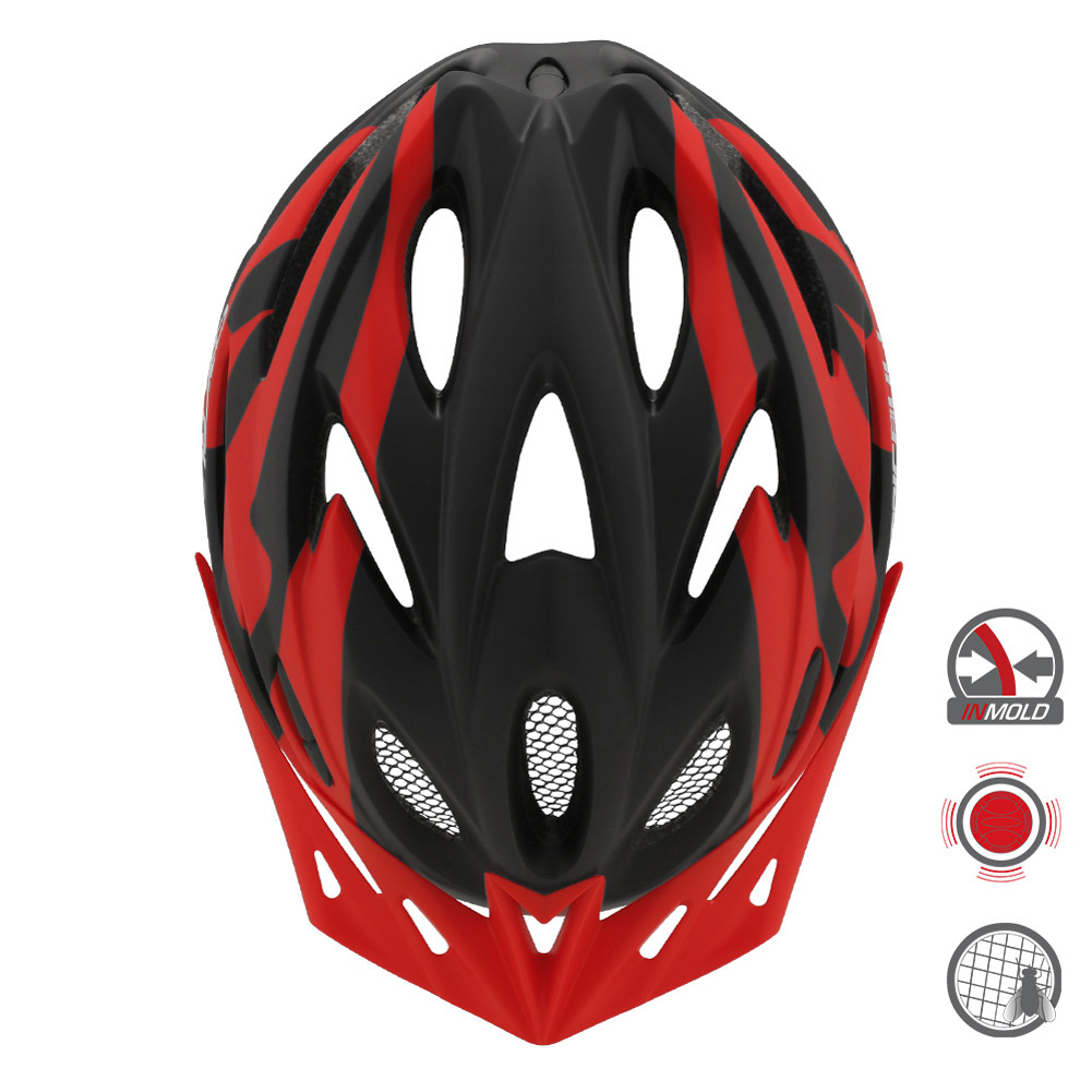 Cairbull FUNGO Helmet All-in-one Off-road Cycling Mountain Bike Motorcycle Riding Helmet Black red_M / L (58-61CM)