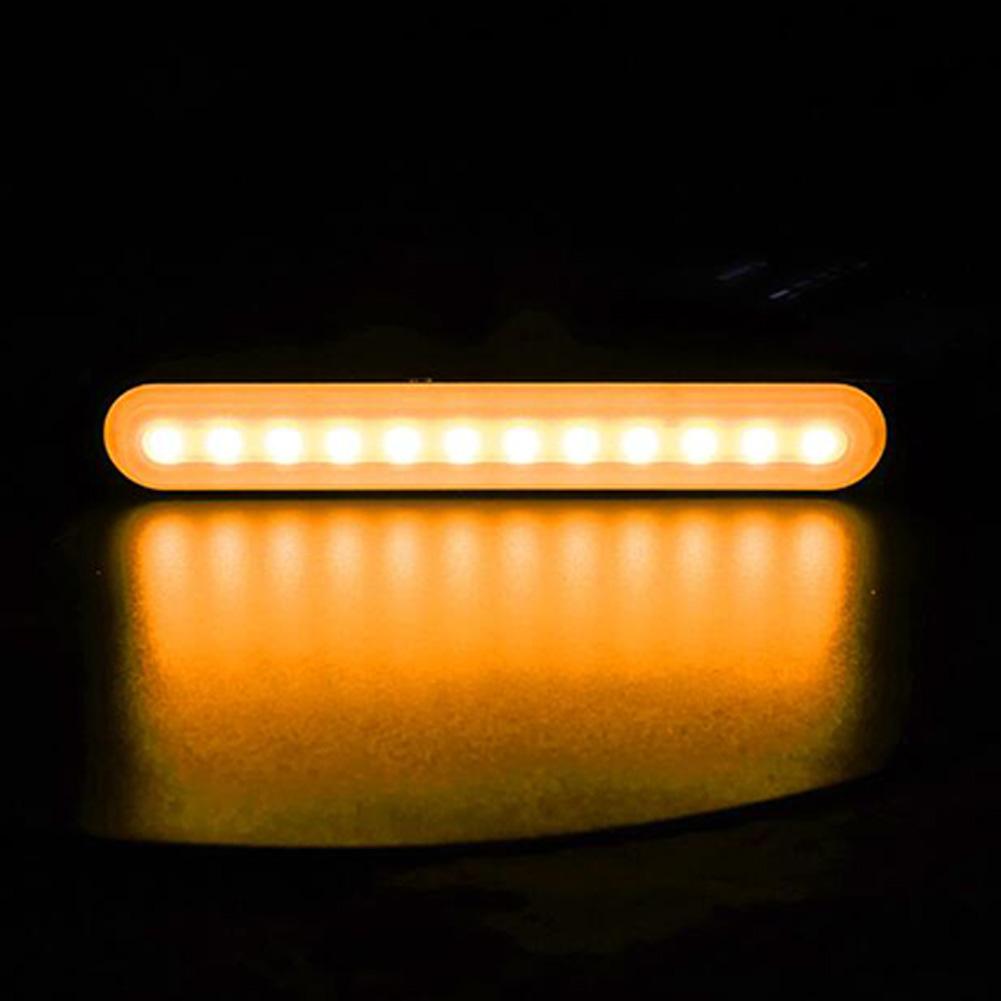 Ultra-thin Car Light Assembly Strobe Warning Light Stop Signal Lamps Auto Moto Trucks Side Marker Lights All yellow