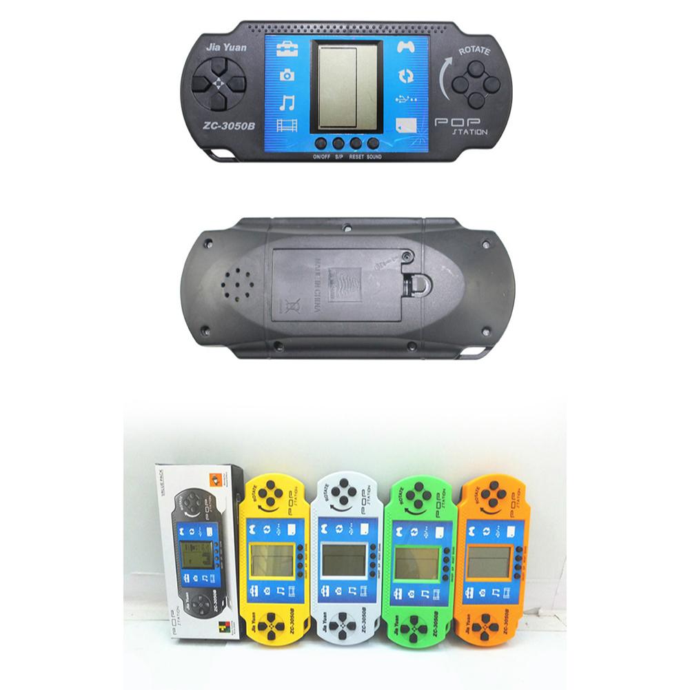Classic Tetris Game Machine Children's Puzzle Handheld Game Console Electronic Toys Random colors (black-based)