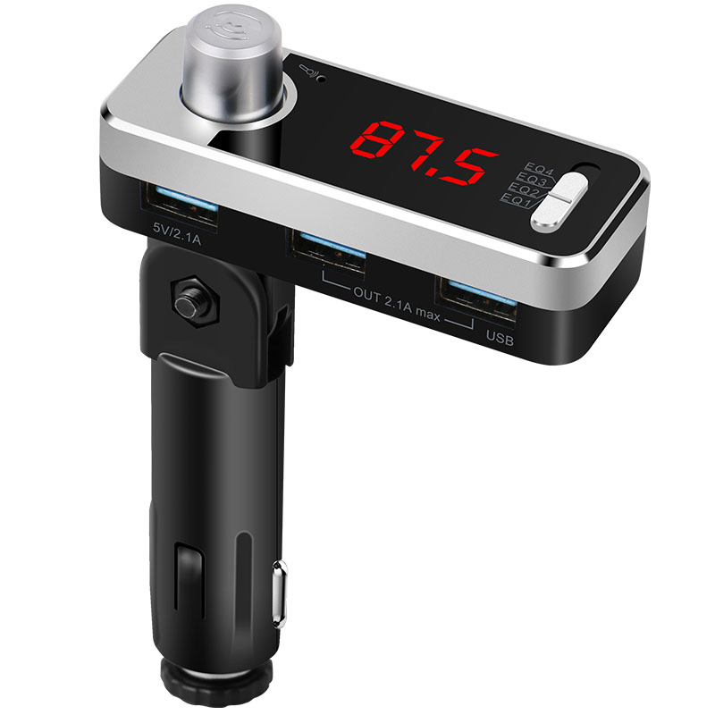Car Charger FM Transmitter Music Player