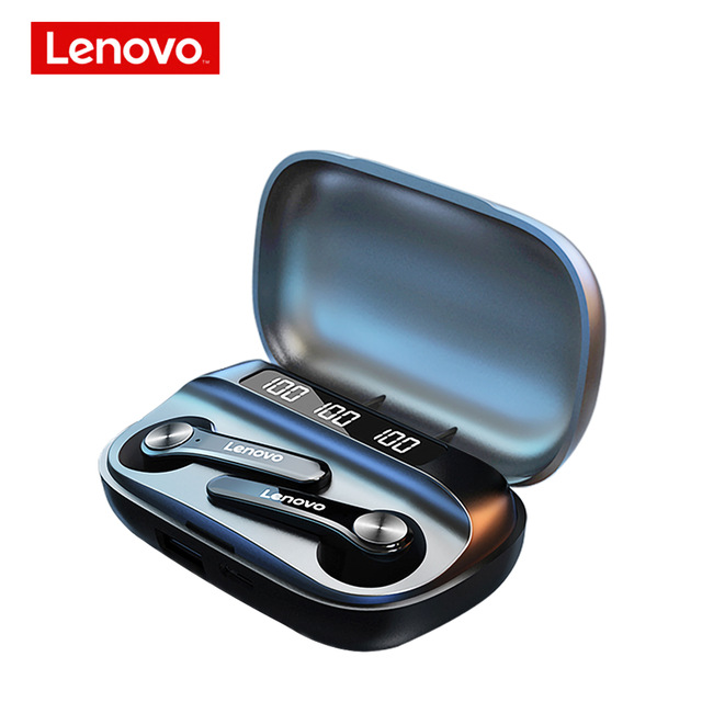Original LENOVO Wireless Earphones Qt81 Bluetooth 5.1 Waterproof Headphones Touch Button Hifi Stereo Earbuds black