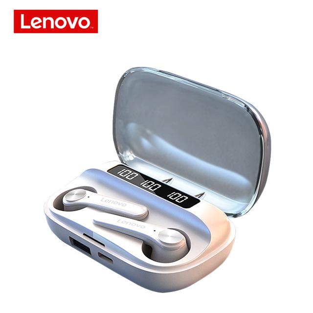 Original LENOVO Wireless Earphones Qt81 Bluetooth 5.1 Waterproof Headphones Touch Button Hifi Stereo Earbuds white