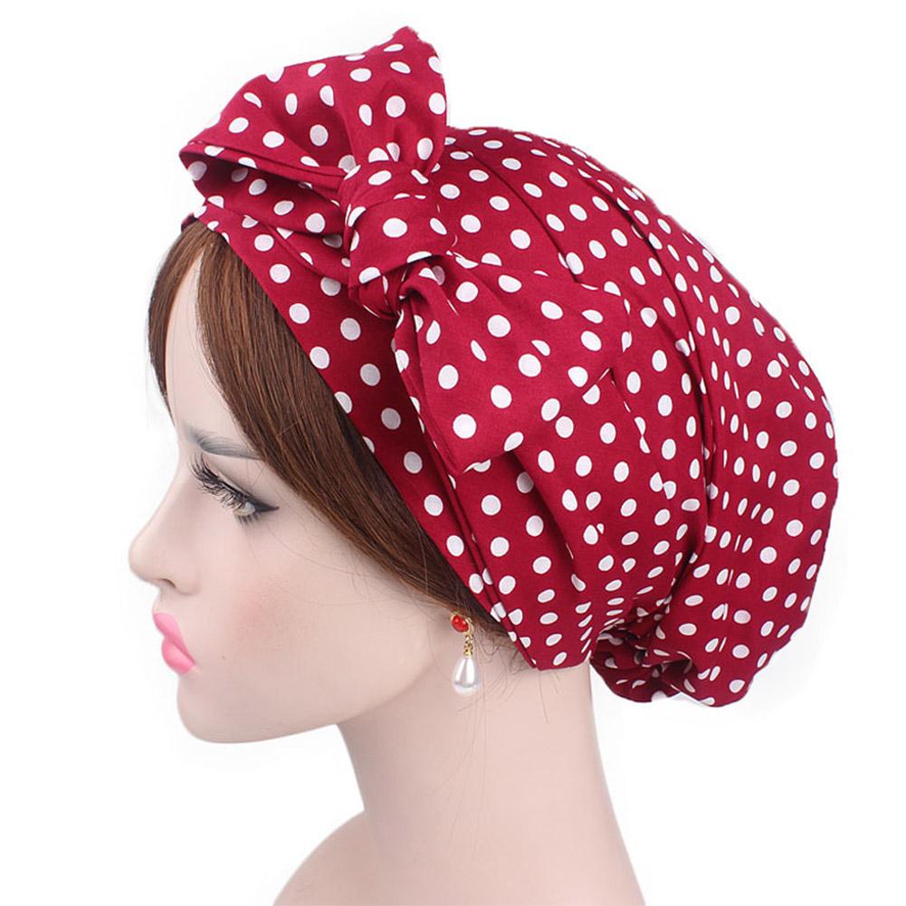 Women Girls Soft Hair Bonnet Sleeping Showering Washing Face Salon Cap with Long Drawstring