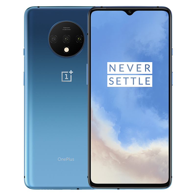 Global ROM OnePlus 7T 8GB 128GB Smartphone Snapdragon 855 Plus Octa Core 90Hz AMOLED Screen 48MP Triple Cameras NFC blue_8+256GB