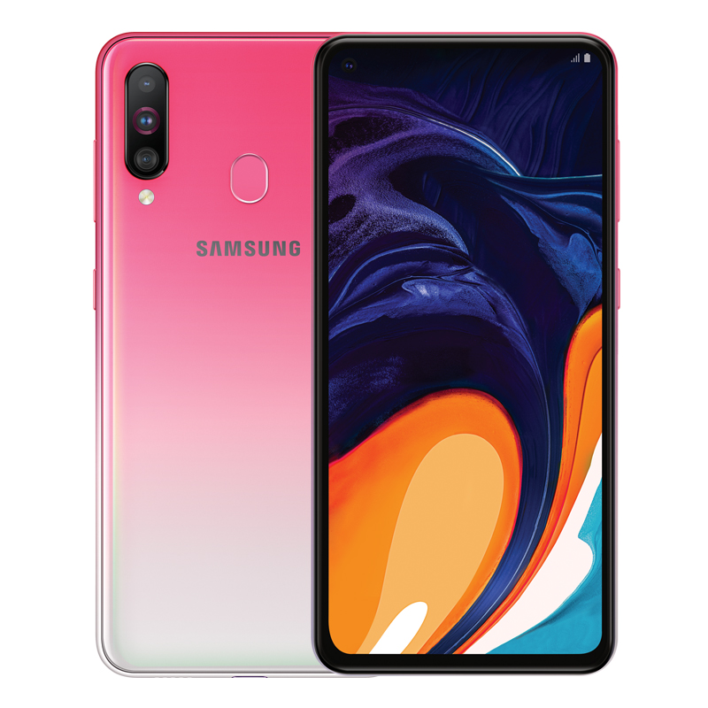 Samsung Galaxy A60 SM-A6060 Android Smartphones 6.3 inch FHD+ Snapdragon 675 Octa Core 6GB 3500mAh 32MP Camera NFC Mobile Phone Pink_6+128GB