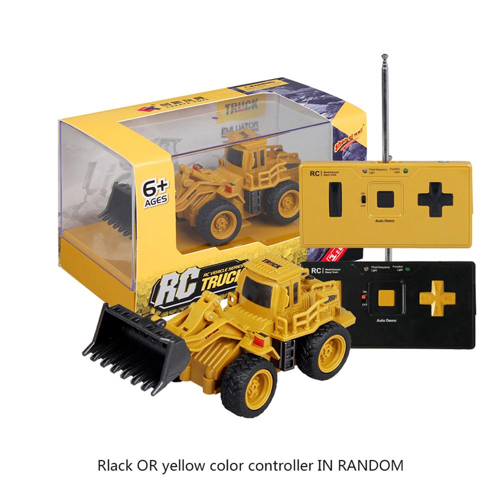 Children 1:64 Mini Remote Control Engineering Car 4 Channel Bulldozer Toy Bulldozer_1:64