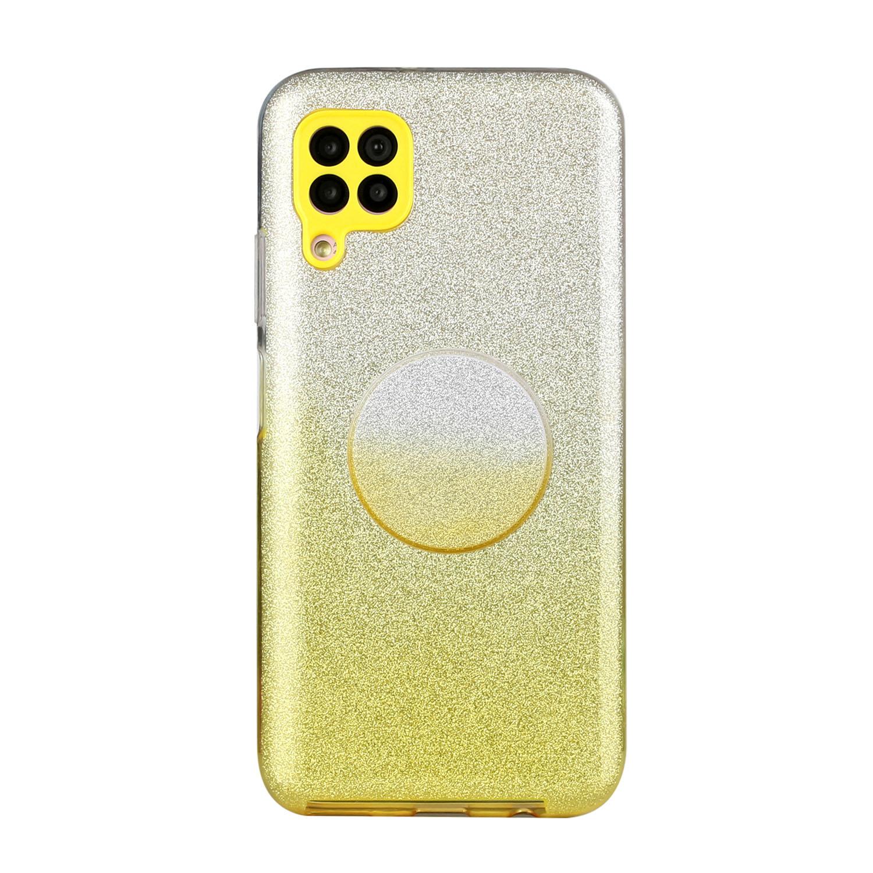 for HUAWEI P20 LITE/P30 LITE/P40 LITE/Nova6SE/Nova 7i Phone Case Gradient Color Glitter Powder Phone Cover with Airbag Bracket yellow