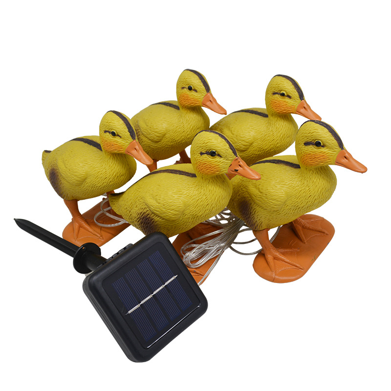 5 in 1 Solar Duck Shape Stake Light LED Outdoor Garden Decorative Lawn Yard Lamp