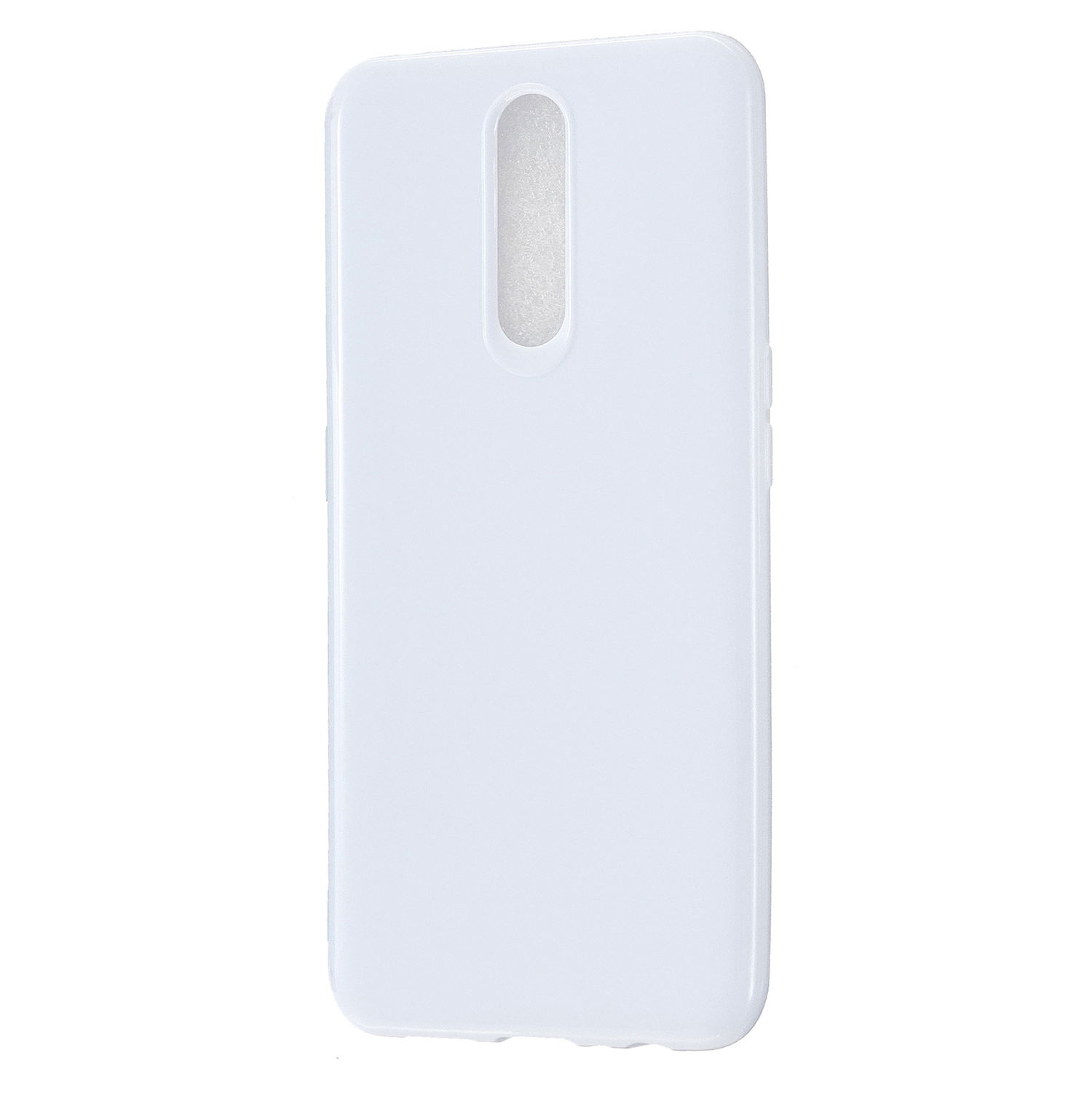 For OPPO F11/F11 Pro Cellphone Cover Glossy TPU Simple Profile Bumper Protective Mobile Phone Case Milk white