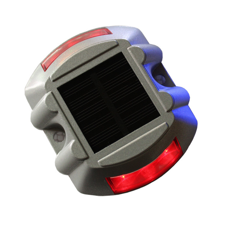 Solar Powered Raised Road Stud Light for Pathway Courtyard Deck Dock Red-always on