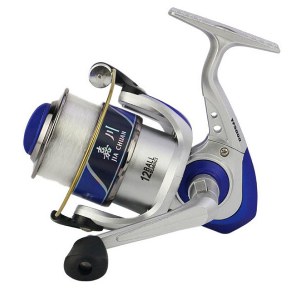 12 axis Engineering Plastic Fishing Reel One-key Left/Right Interchangeable Baitcast Reel Random Color_3000 series